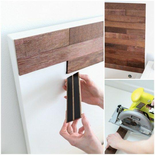 Ikea hack headboard using stikwood