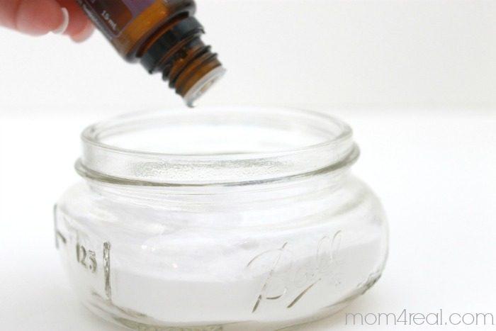 mason jar and essential oil