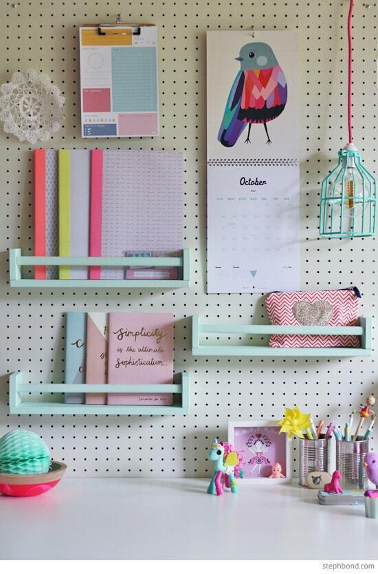 ikea hack diy hanging shelves