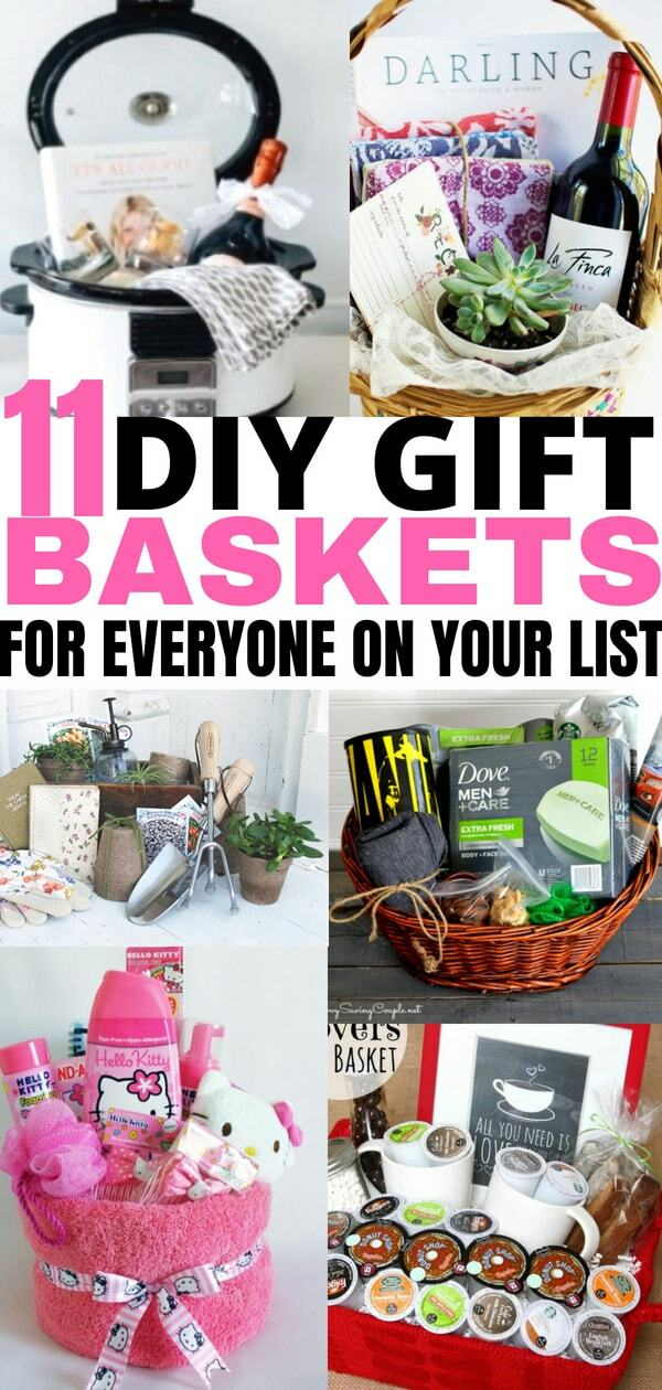 DIY gift baskets that everyone will love. Checkout these DIY gifts for everyone on your list!