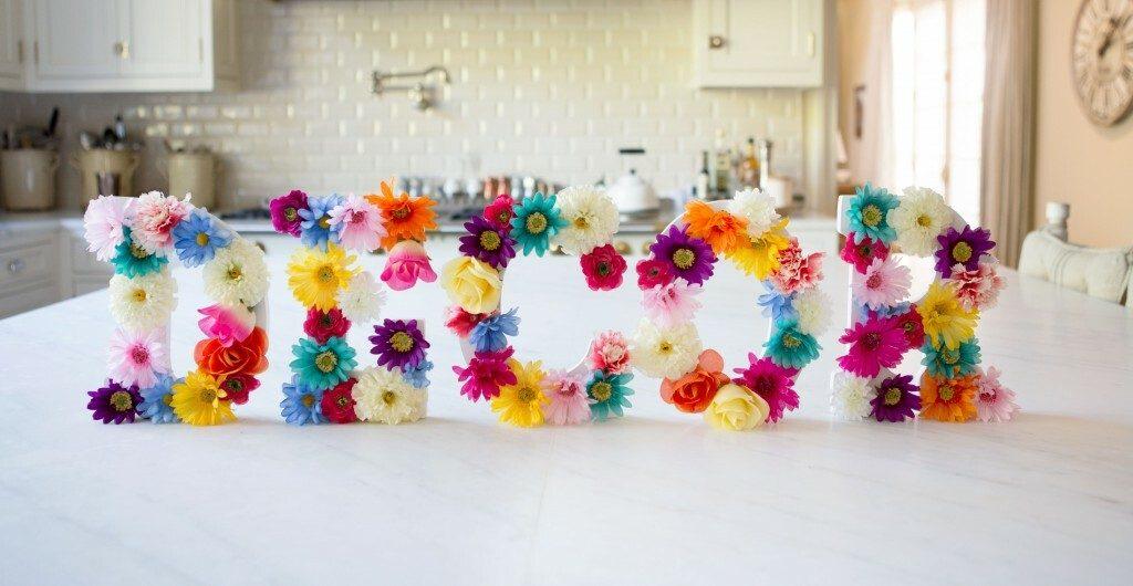 spring crafts floral letters