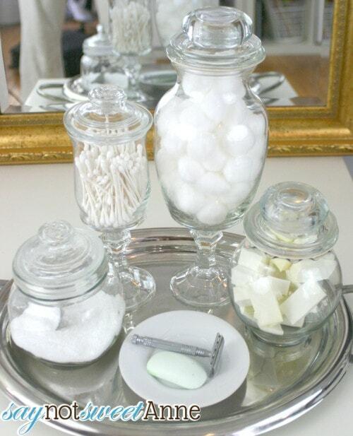 apothecary jars diy dollar store