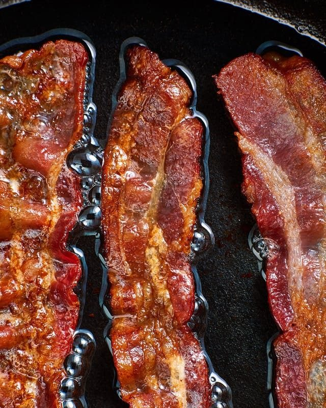 kitchen hack with bacon
