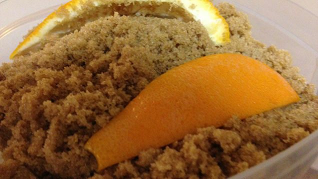 brown sugar with orange