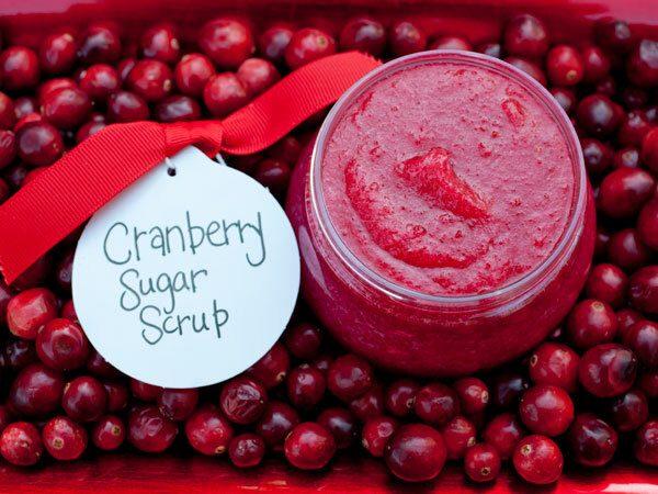DIY Sugar Scrub with Cranberries