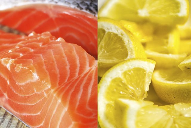 lemon and salmon