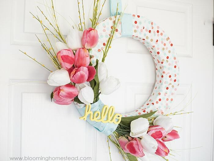 spring crafts wreath