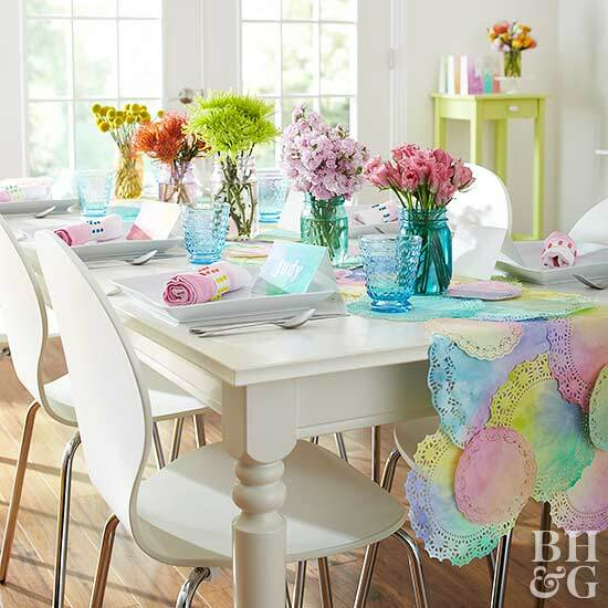spring crafts table runner