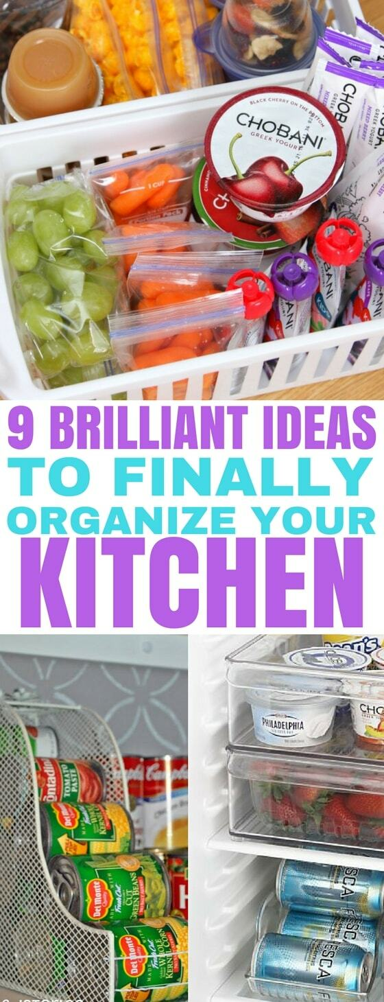 These kitchen organization ideas are so easy to do! I especially love the pantry organization hack. Get your kitchen organized today with these tips! | Kitchen Organization | #kitchenorganization #homeorganization #pantryorganization #organization hacks