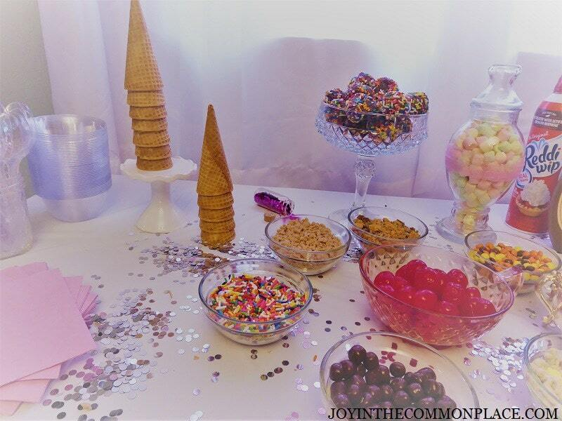 ice cream party food station