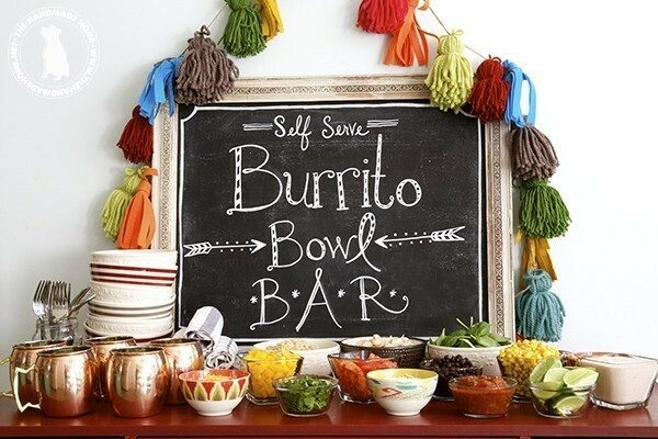 burrito bar food station