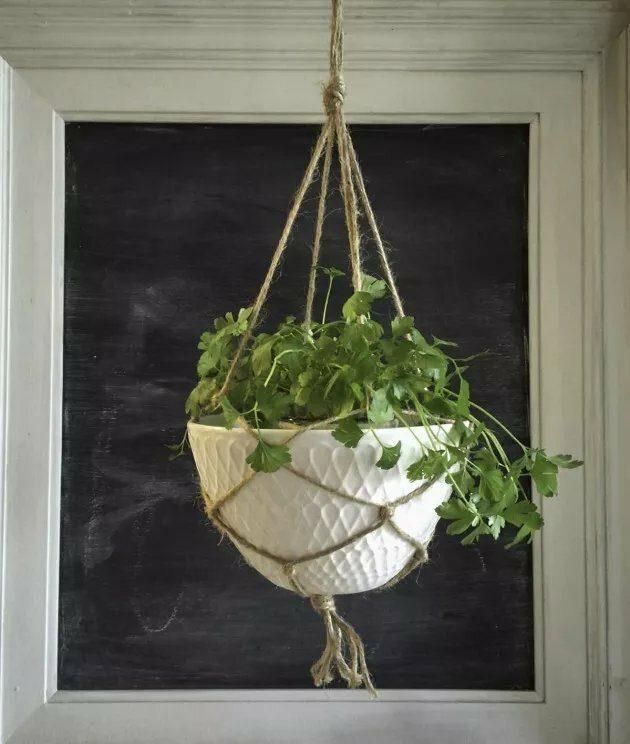 macrame hanging planters