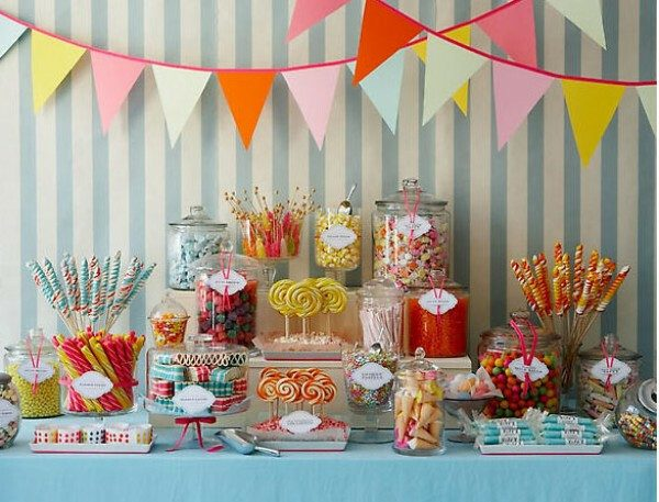 candy party table food station