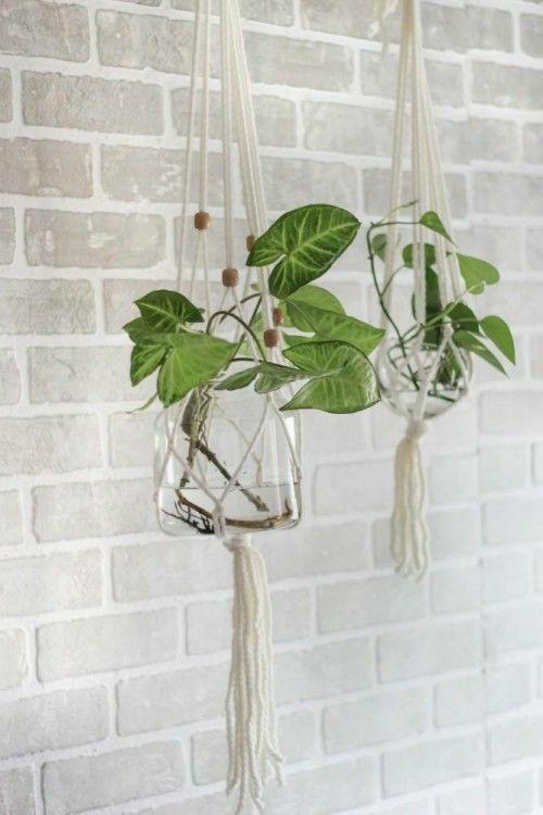 Simple Macrame Plant Hanger Planters