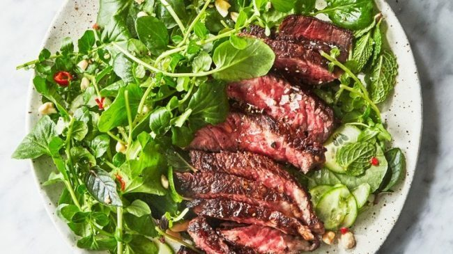 steak summer salads
