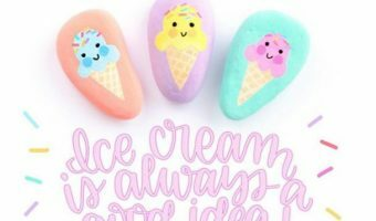ice cream painted rocks