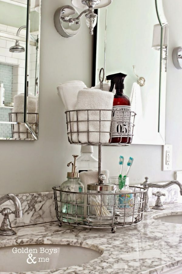 bathroom wire basket