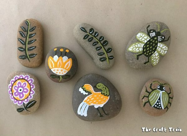 garden painted rocks