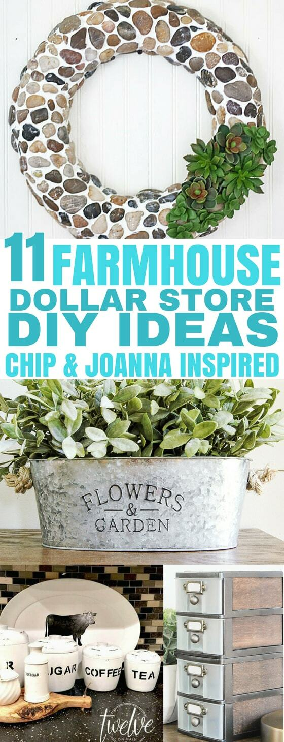 11 Farmhouse Dollar Store DIY Ideas