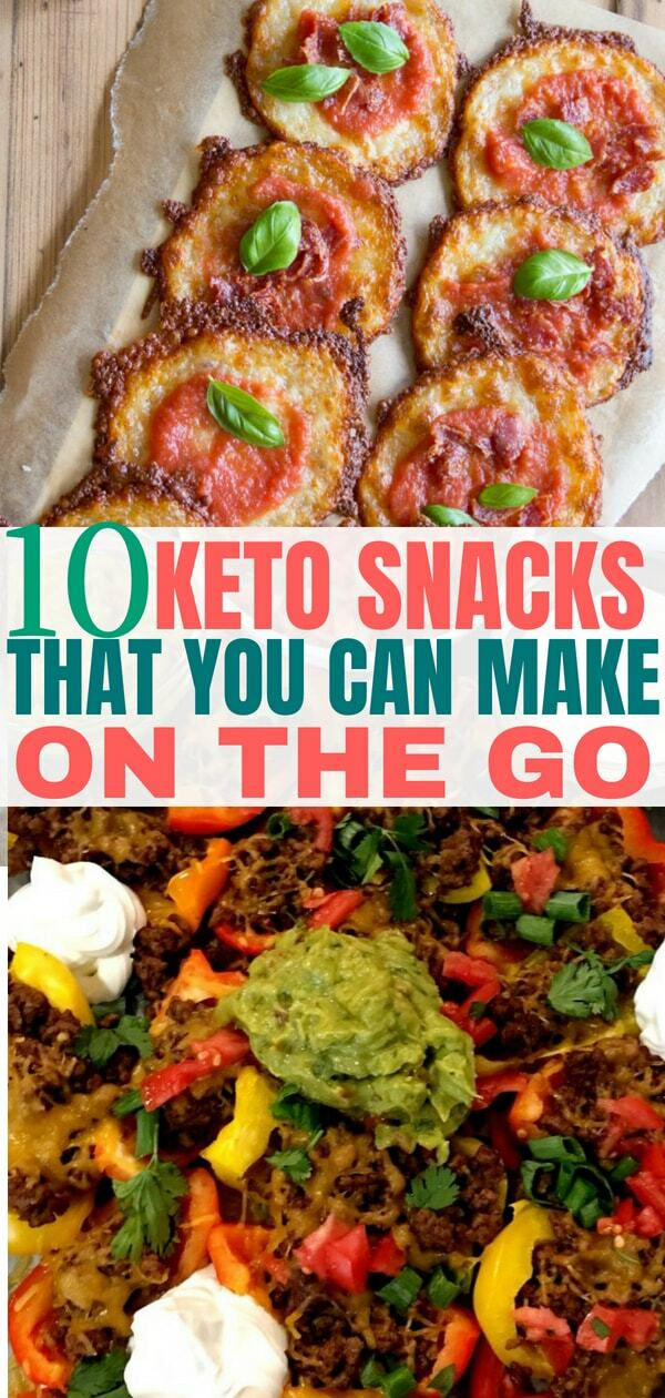 Keto snacks on the go. These keto recipes are perfect for busy people. Add these low carb snack recipes to your diet plan to start burning fat.