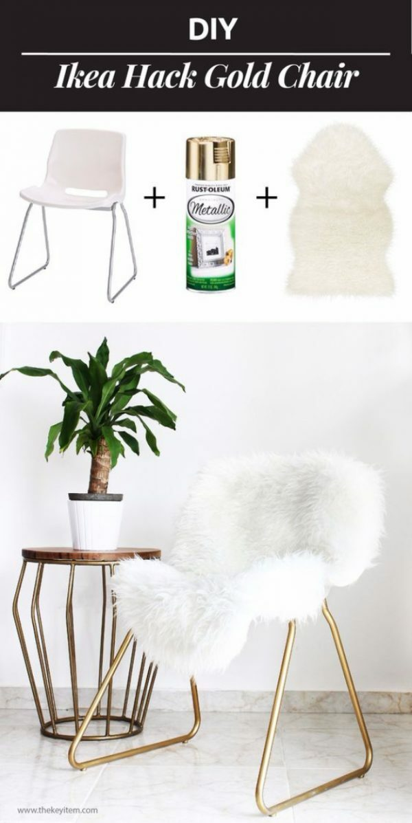Ikea Gold chair hack