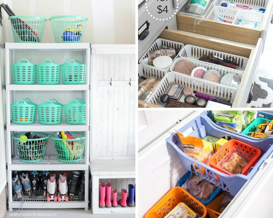 15 Dollar Store Organizing Hacks