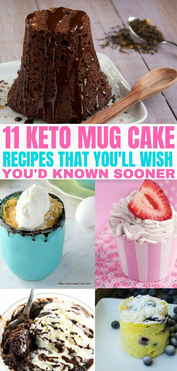 11 Keto mug cake recipes that are sure to satisfy your sweet tooth! Take a look at these delicious low carb mug cake recipes for your Keto diet plan.