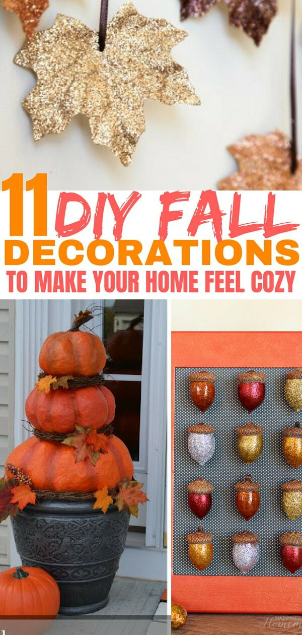 These DIY Fall decorations will make your home feel so cozy! Checkout these Fall crafts!