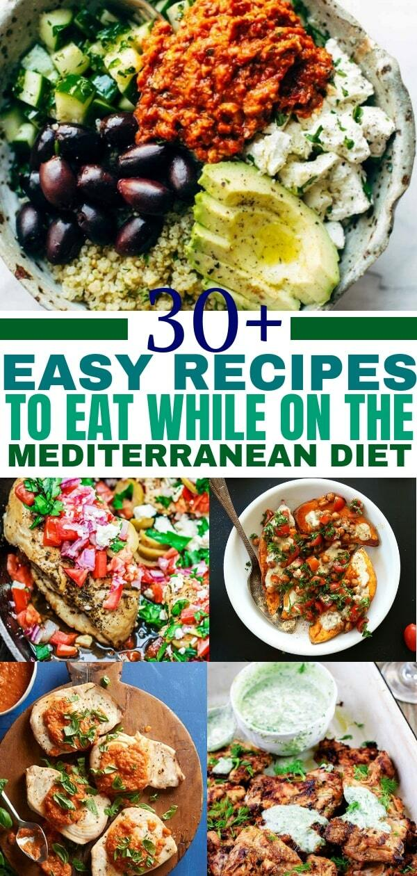 Mediterranean diet recipes to help you live a healthy lifestyle. Add these Mediterranean recipes to your Mediterranean diet plan.