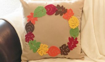 DIY Fall Accent Pillow