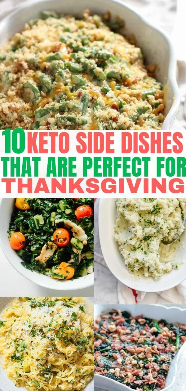 Delicious Keto side dishes that are low carb and easy to make. These keto recipe sides are perfect for Thanksgiving and other holiday dinners!
