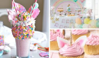 These unicorn birthday party ideas are perfect for you next party! From unicorn birthday party decorations to unicorn cupcakes!