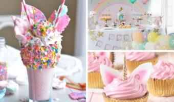 These unicorn birthday party ideas are perfect for you next party! From unicorn birthday party decorations to unicorn cupcakes!