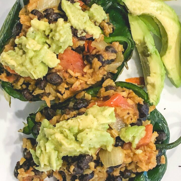Vegan Stuffed Peppers - Daniel Fast Recipe